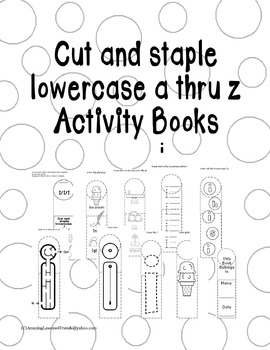 Cut and Staple Lowercase i Activity Book