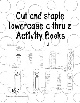 Cut and Staple Lowercase j Activity Book