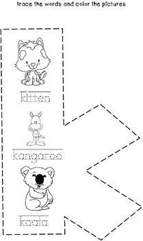 Cut and Staple Lowercase k Activity Book