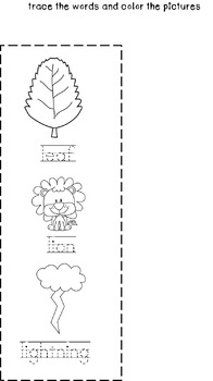 Cut and Staple Lowercase l Activity Book