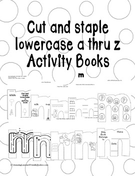Cut and Staple Lowercase m Activity Book