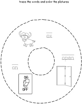 Cut and Staple Lowercase o Activity Book