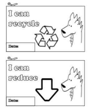 Cut and color I can statements - Earth Day