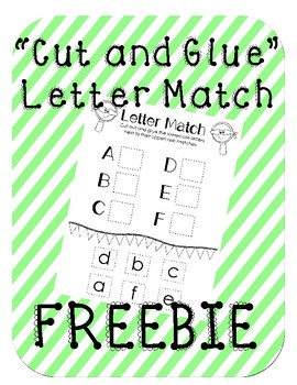 Cut-and-glue Letter Match FREEBIE!!!