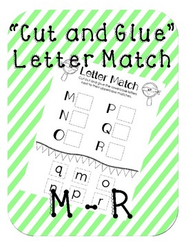 Cut-and-glue Letter Match M-R