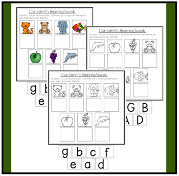 Matching Beginning Sounds to Pictures- No PREP