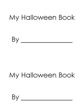Cut and paste Halloween book