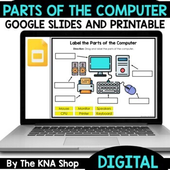 Cut and paste activity --- Parts of Computer #backtoschool