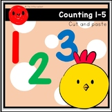 Cut and paste counting (1-5)
