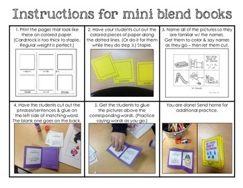 Cut and paste mini book - free sample book for sl blends