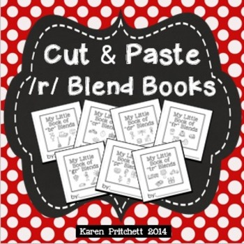 Cut and paste mini books for R blends - no laminating! Ink saver!