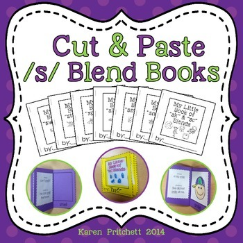 Cut and paste mini books for s blends - no laminating! Ink Saver!