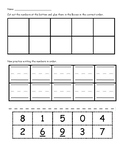 Cut and paste numbers in order DIFFERENTIATED