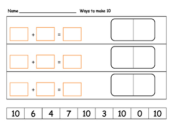 Cut and paste numbers to create equation