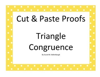 Cut and paste proofs of triangle congruence