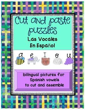 Cut and paste puzzle-vowels
