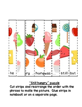 Cut and paste puzzles-Hungry Caterpillar