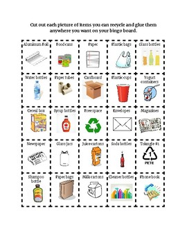 Recycling Cut And Paste Worksheets & Teaching Resources | TpT