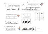 Cut and paste sentences - independent literacy activity bundle pack