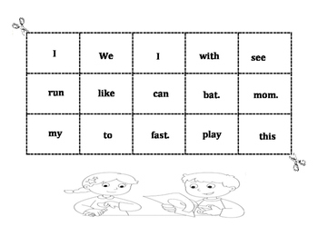 Cut and paste sight word sentences.
