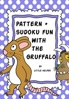 The Gruffalo - Cut and paste sudokus and pattern fun activities