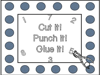 Cut it! Punch it! Glue it! (Counting)