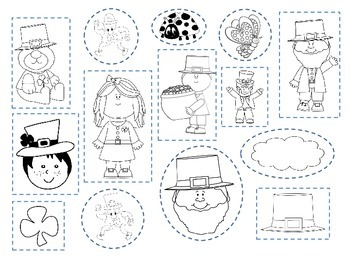 Cut it out on St. Patty's Day: A language building cut and paste printable