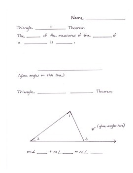 Cut 'n Paste Comprehension of Two Triangle Theorems