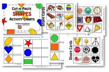 Cut-n-Paste SHAPES: Activity Chart