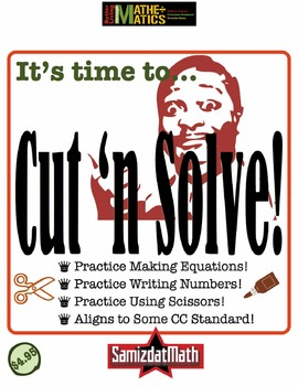 Addition and Subtraction Practice Puzzles: Cut n' Solve!