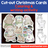 Cut out Coloring Christmas Cards - Cute Printable Writing