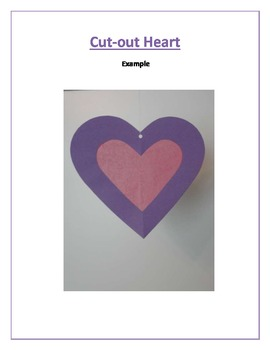 Cut-out Heart: Valentine's Day Art Activity