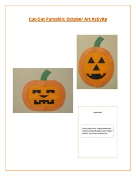 Cut-out Pumpkin: October Art Activity