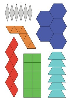 Cut out shapes for barrier game