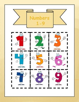 Cut-outs numbers 1-9