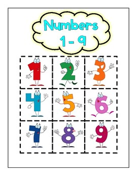 Numbers 1-9 Cut Outs