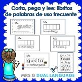Spanish high frequency words mini books. Libritos de palabras de uso frecuente