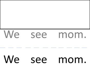Cut up sentences (Pre-K/Kinder) reading