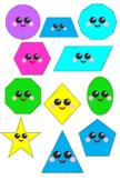 Cute 2D Shape Clipart - 12 Pieces
