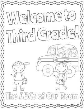 ABC Book Template: Welcome To Our Class