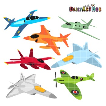 Cute Airplanes Clip Art - Great for Art Class Projects!