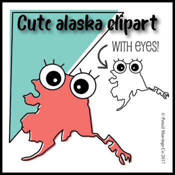 Cute Alaska Clipart with Eyes!
