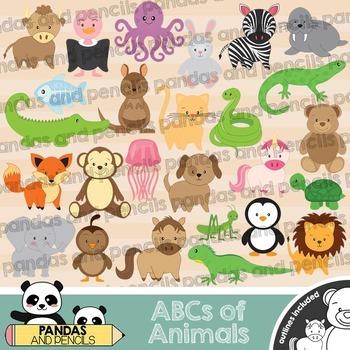 ABCs of Animals / Cute Alphabet Animals Clip Art