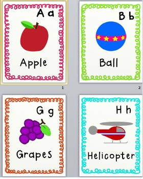 Cute Alphabet Flash Cards