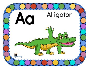 Cute alphabet flashcards by playfulkids teachers pay teachers cute alphabet flashcards altavistaventures Image collections