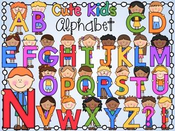 Cute Alphabet Kids Clipart