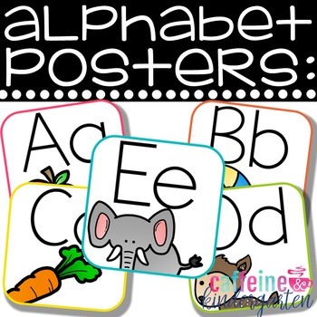 Cute Alphabet Posters - Square and Bright