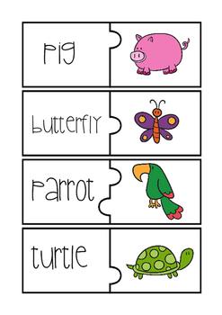 Cute Animal Puzzles {easy prep}