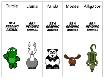 Zoo Safari Farm Theme Printable Bookmarks 15 different