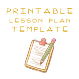 Cute Any Subject Lesson Plan Template